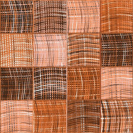 Seamless quilted pattern with grunge striped and checkered square elements in brown,white,pink colors