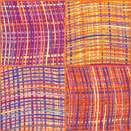 quilt: Weave colorful grunge striped checkered quilt seamless pattern