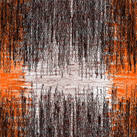 interlace: Seamless weave pattern with grunge interlace zigzag stripes in black,orange,white colors