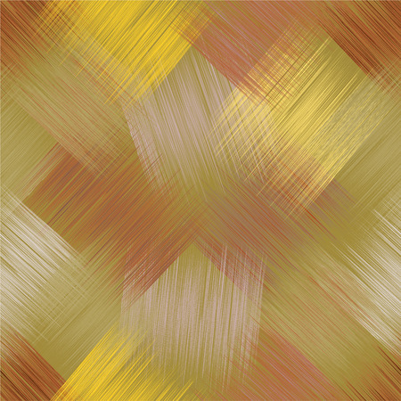 beige: Diagonal seamless pattern with grunge striped square elements in green, brown, yellow,beige colors for web design