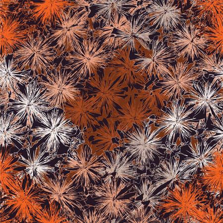 sin patrón, con filas de elementos de rayos de grunge en colores naranja, marrón, gris, negro