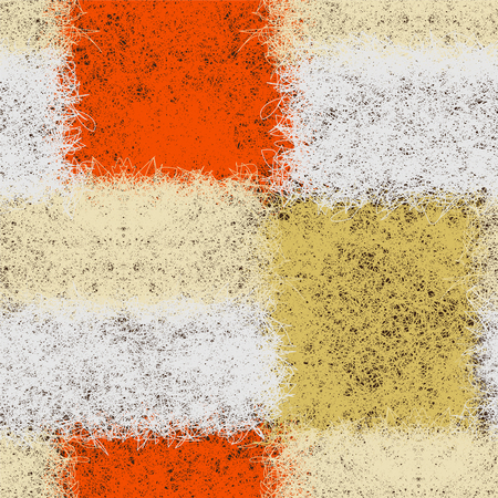 Seamless pattern with colorful weave shaggy rectangular elements