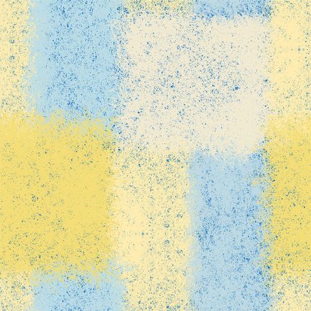 mohair: Seamless pattern with weave rectangular elements in blue,yellow,white pastel colors for plaid,carpet,upholstery Illustration