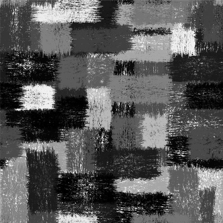 linoleum: Seamless black and white pattern with grunge striped intersecting rectangular  elements for plaid,linoleum,upholstery