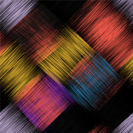 intersect: Seamless pattern with colorful grunge striped intersect rectangular elements