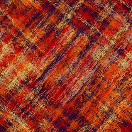 Seamless diagonal grunge striped checkered colorful pattern