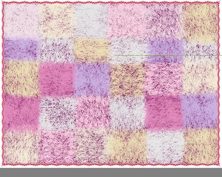 Plaid lanuginoso del mohair con il modello a quadretti nei colori pastelli isolati su bianco Vettoriali