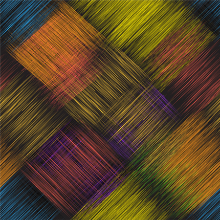 Diagonal seamless pattern with colorful grunge striped intersect rectangular elements