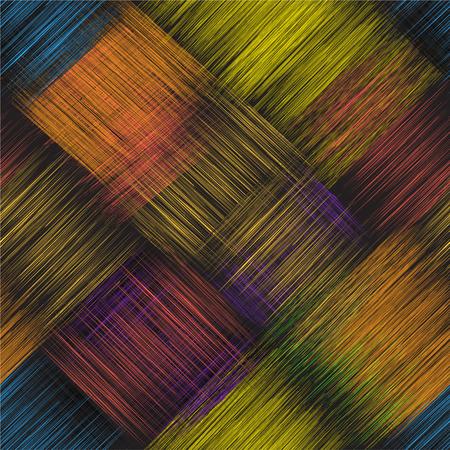 Diagonaal naadloos patroon met kleurrijke grunge gestreepte snijden rechthoekige elementen