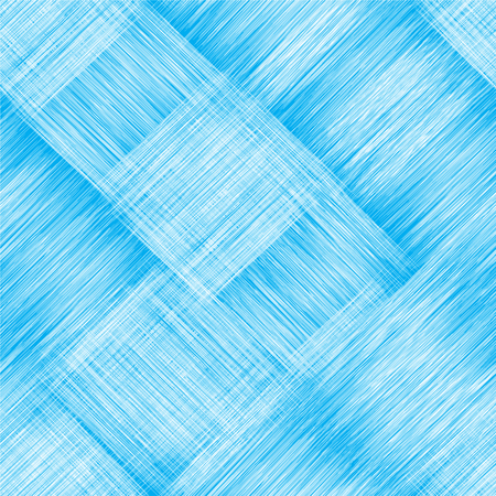 Diagonal seamless pattern with grunge striped intersect rectangular elements in blue and white colors for web design