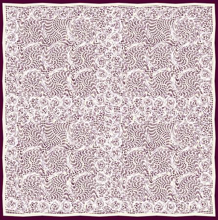 Openwork cream-coloured serviette isolated on dark background 일러스트