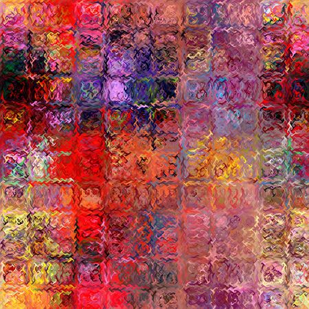 Bright rainbow  background with rows of colorful grunge stained and wavy square  elements Reklamní fotografie
