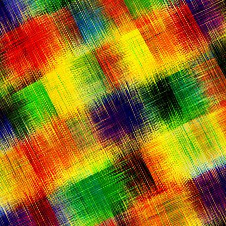 Checkered grunge striped rainbow diagonal background Imagens
