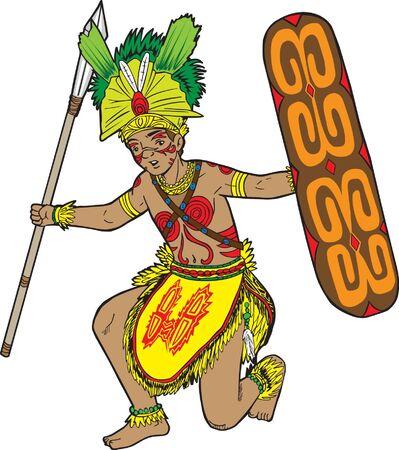 indonesisch: Indonesische Dancer Stock Illustratie