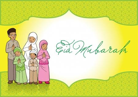 Eid Mubarak Kaart van de Groet