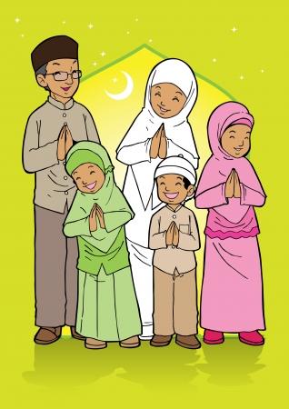 indonesisch: Indonesische moslim Eid Mubarak feestdag