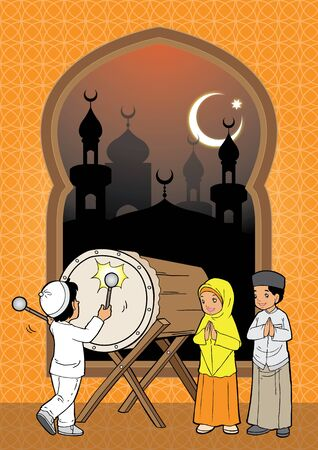 submissiveness: Indonesian Kids muslim eid mubarak celebration day