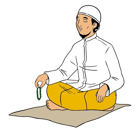 Indonesian muslim male praying Stock Vector - 16822965