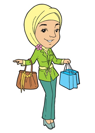 indonesian: A modern muslim woman Illustration