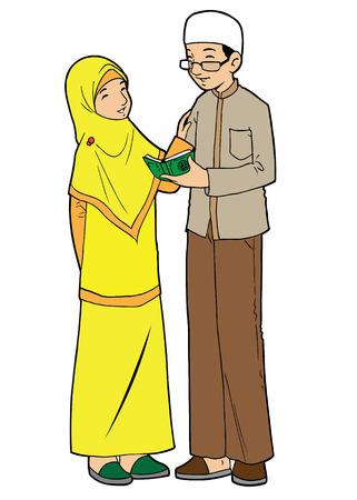 humble: muslim couple learning koran