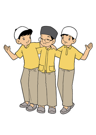 humble: Group of Muslim Little Boys
