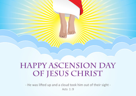 An illustration of the ascension of Jesus Christ Illustration