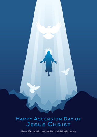 Ilustracja wniebowstąpienia Jezusa Chrystusa