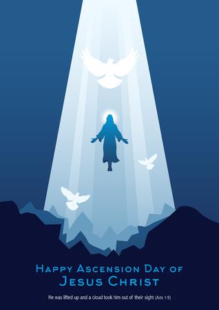 Una ilustración de la ascensión de Jesucristo.
