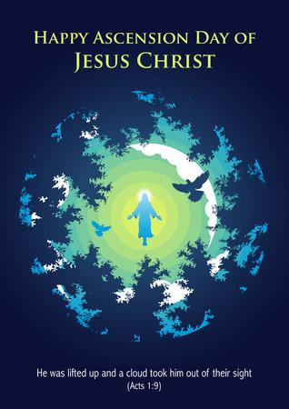 Une illustration de l'ascension de Jésus-Christ Vecteurs