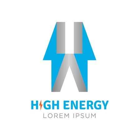 High energy logo company. Vector illustration