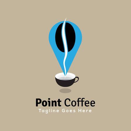 DIGITAL Custom logo design, point coffee cup logo, Elegant coffee logo design inspiration