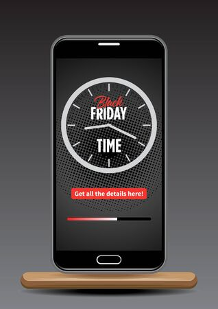 Black Friday sale poster vector illustration
