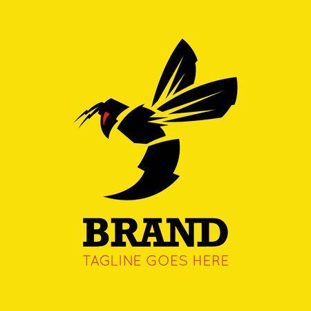 DIGITAL Custom logo design, Lighting bee logo, bee logo design inspiration Stock Illustratie