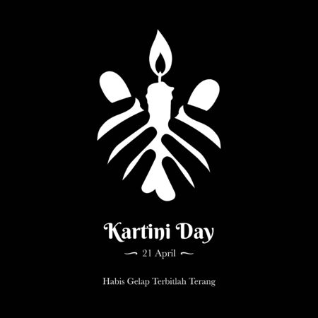 A logo of Kartini Day Celebration. Habis gelap terbitlah terang means After Darkness comes Light