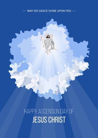 An illustration of the ascension day of Jesus Christ 向量圖像