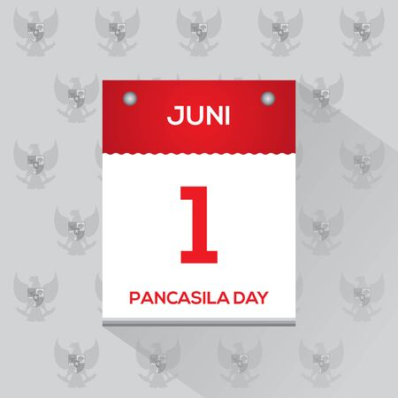 Pancasila day calendar, marks the date of Sukarno's 1945 address on the national ideology.