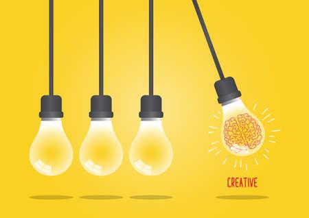 Newtons cradle concept on yellow background Иллюстрация