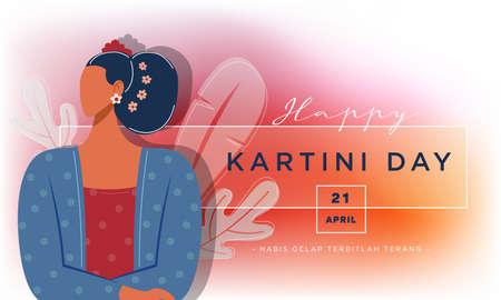 Kartini day celebration illustration Free Vector