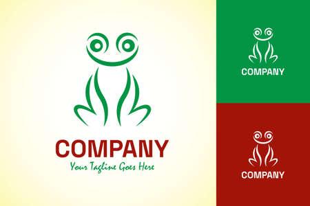 Frog logo abstract design vector template.