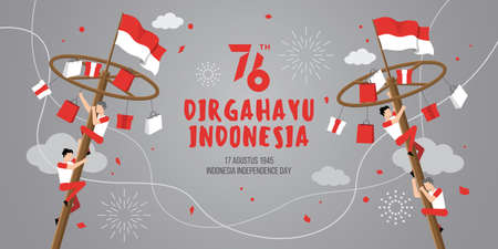 Indonesia independence day with traditional games.