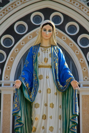 blessed: Virgin mary statue and Catholic Church