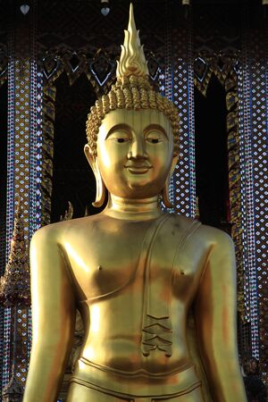 Golden standing Buddha statue Stock Photo - 13025902