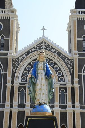 the cathedreal of the immaculate conception, Chanthaburi, Thailand  photo