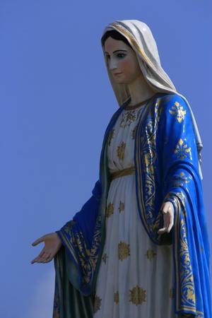 神聖女性在羅馬天主教雕像 版權商用圖片