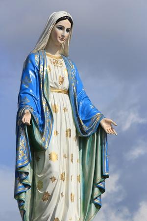 聖母瑪利亞的雕像在尖竹汶省,泰國