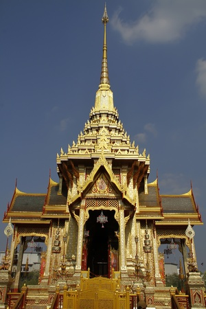 Thai royal funeral and Temple in bangkok thailand  photo