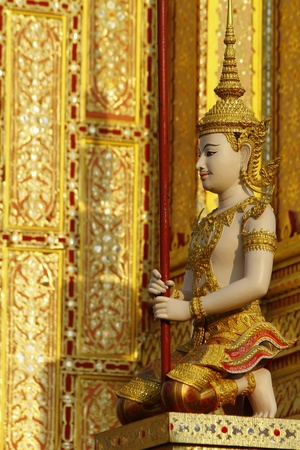 Thai art angel sculpture Stock Photo - 13526931