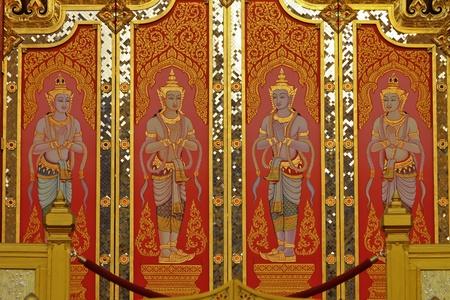 Thai Angels door in thai church