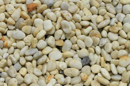 Detail of a garden with raked gravel,a rock  Stock Photo