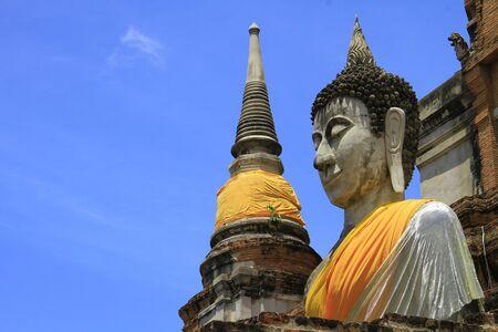Buddha Statues, Wat Yai Chai Mongkhon, Ayutthaya, Thailand photo
